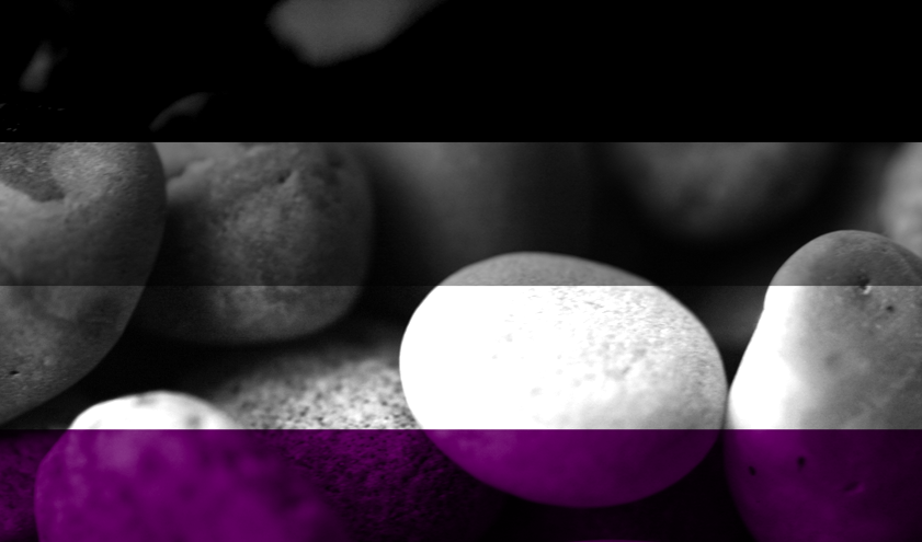 asexual flag stones