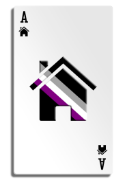 [an ace playing card with a house icon as the suit symbol]